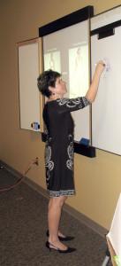 Mary Anne during training seminar